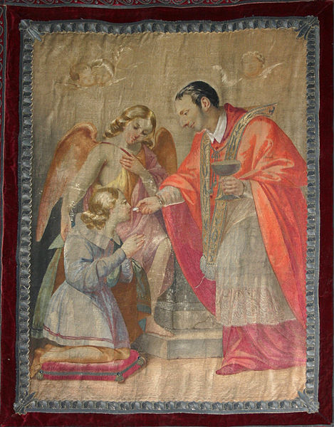 File:3544 - Milano, S. Carlo al C.so - S. Carlo comunica S. Luigi Gonzaga - Arazzo - Foto Giovanni Dall'Orto 22-Jun-2007.jpg