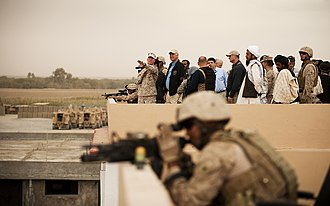 William J. Lynn III - Lynn touring Marine positions in Afghanistan.