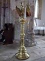 45 Aslackby St James, interior - Eagle lectern.jpg