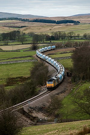Yorkshire Dales Railway - 60083 James Murray passes Rylstone with a stone service to Redcar in 2008
