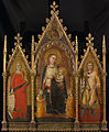 7 Andrea di Cione Orcagna, Madonna and Child with Maria Magdalen and St Ansano 1350 Rijksmuseum.jpg