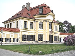 Nymphenburg Porcelain Manufactory - The cavalier house on the grand circle in front of Nymphenburg Palace, production site since 1761