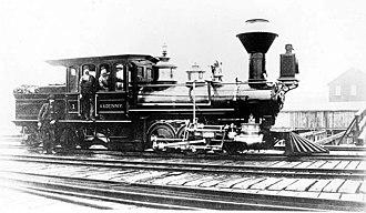 Seattle and Walla Walla Railroad - The locomotive A.A. Denny