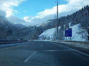 Tauern Autobahn - A 10, Flachau junction