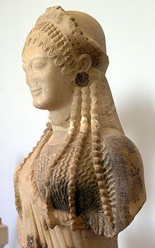 Хіосська кора скульптор архермос