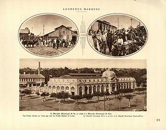 Maputo central market - The market in 1929 (lower illustration)