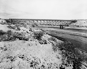 National Register of Historic Places listings in Johnson County, Wyoming - Image: AJX Bridge over South Fork and Powder River