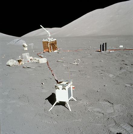 Remains of human activity, Apollo 17's Lunar Surface Experiments Package ALSEP AS17-134-20500.jpg