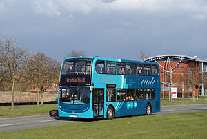 Arriva Buses Wales - Alexander Dennis Enviro400 on Sapphire route 1 at Chester Business Park