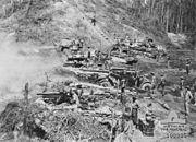 AWM 108885 2 7th Field Regiment and 2 9th Armoured Regiment Tarakan June 1945