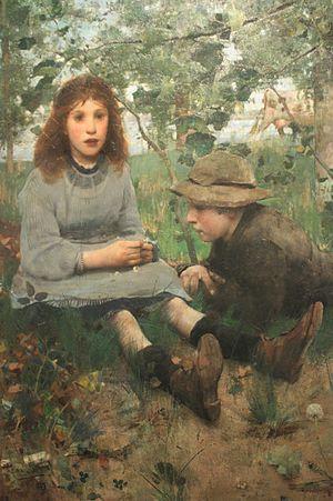 Edward Arthur Walton - Image: A Daydream by Edward Arthur Walton, 1885, NGS
