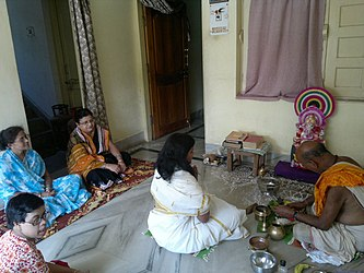 A Ganesh Puja inside a home, Rourkela Eastern India 2012.jpg