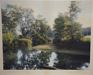 Wallace Nutting - Image: A Summer Stream by Wallace Nutting, c. 1915, hand colored silver photograph Fitchburg Art Museum DSC08940