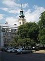A Szent Katalin-templom tornya a Várkert rakpart felől nézve, 2018 Várkerület.jpg