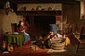 A family scene in a kitchen with an old woman sitting by the Wellcome V0038768.jpg