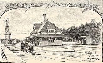 Montello station - 1880s woodcutting of the former Montello station
