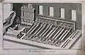 A machine for washing and crushing ore. Etching by Bénard af Wellcome V0023527.jpg