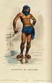 A man wearing a bathing costume. Coloured etching by C. Cami Wellcome V0020028.jpg