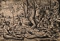 A mass of swirling figures and snakes. Engraving by M. Coxie Wellcome V0010541.jpg