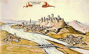 Esztergom - Esztergom in 1664