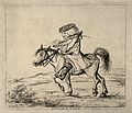 A vexed doctor on horseback. Etching, 1801, after H.W. Bunbu Wellcome V0010920.jpg