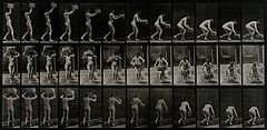 A woman putting a basket down. Photogravure after Eadweard M Wellcome V0048647.jpg