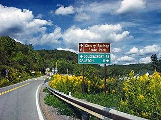 Abbott Township, Potter County, Pennsylvania - Pennsylvania Route 44 in Abbott Township  at Carter Camp