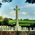 Abeele Aerodrome Military Cemetery on the Belgian side of the French border - Redvers (cropped).jpg