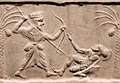Achaemenid king killing a Greek hoplite.jpg
