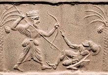 Photo d'un bas-relief.