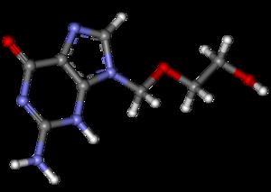 Aciclovir ball-and-stick.png