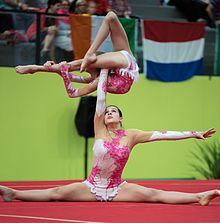 Acrobatic gymnastics wikipedia for Indian gymnastics floor music