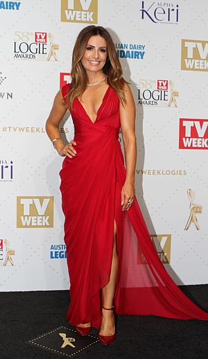 Ada Nicodemou - Image: Ada Nicodemou arrives at the 2016 TV Week Logie Awards (26871490636)