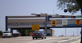 Addison Airport Toll Tunnel - West Tunnel Entrance