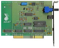 The AdLib Music Synthesizer Card, was one of the first sound cards circa 1987
