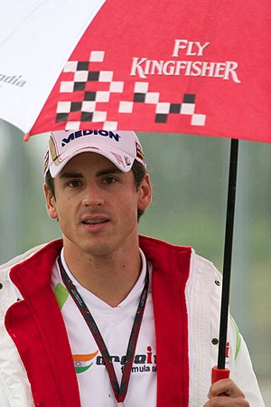 2010 Singapore Grand Prix - Adrian Sutil, who damaged his Force India's suspension in a crash during the second practice session.