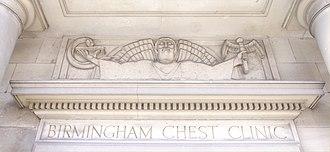 William Bloye - Image: Aesculapius on Birmingham Chest Clinic
