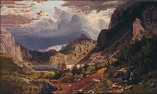 Storm in the Rocky Mountains, Mt. Rosalie