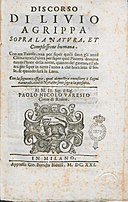 Agrippa, Livio – Sopra la natura et complessione humana, 1621 – BEIC 11386303.jpg