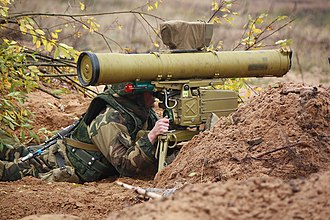 9M113 Konkurs - Belarusian SOF soldier of the 103rd Guards Separate Mobile Brigade with a 9M113 Konkurs missile.