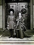 Aisin-Gioro Pǔjié and Lady Hiro Saga 1937 wedding photo