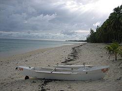 A beach on Aitutaki
