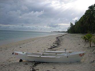 Survivor: Cook Islands - Photo taken of the beach on Aitutaki during the filming of Survivor: Cook Islands in July 2006.