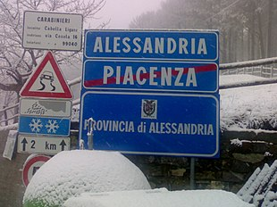 Il confine tra Piemonte e Emilia-Romagna a Capanne di Cosola (1465 m)