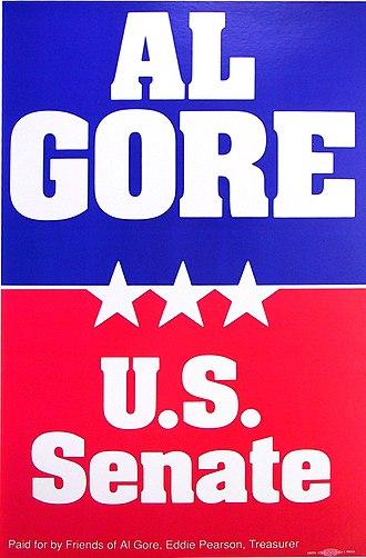 1984 United States Senate election in Tennessee - Al Gore 1984 campaign poster