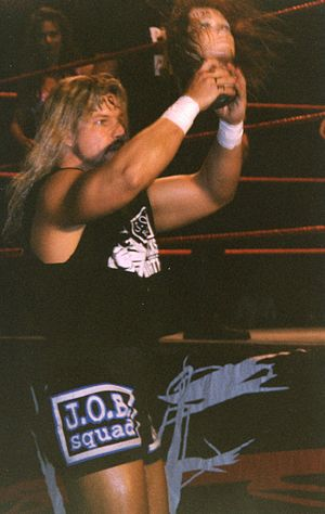 "Al Snow - Al Snow with ""Head"" in 1999."