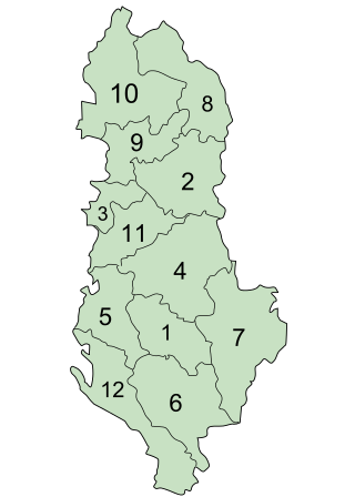 Counties of Albania