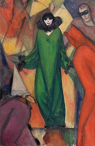 Albert Bloch - Albert Bloch, 1913, The Green Domino, oil on canvas, 130.5 x 85 cm
