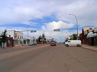 Stettler, Alberta - Main Street, Stettler