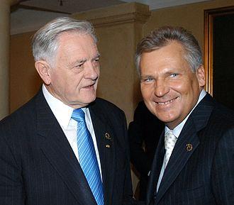Aleksander Kwaśniewski - Kwaśniewski with Lithuanian President Valdas Adamkus